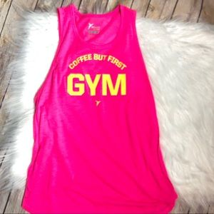 Old navy pink gym tank top sz small